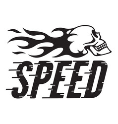 Speed retro design with speed lines and fla vector