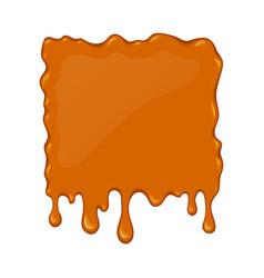 splash of flowing caramel vector image