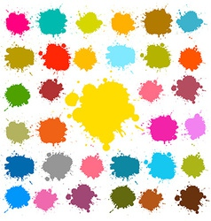 Splashes - Blots - Stains Set vector image