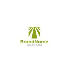 Square turf logo design vector