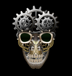 Steam punk skull vector