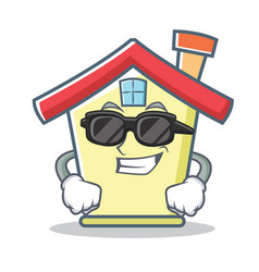 super cool house character cartoon style vector image