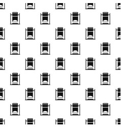 Swinging trashcan pattern vector