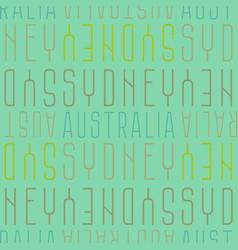 sydney australia seamless pattern vector image