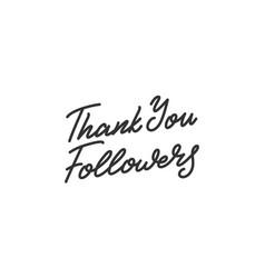 Thank you followers social media followers vector