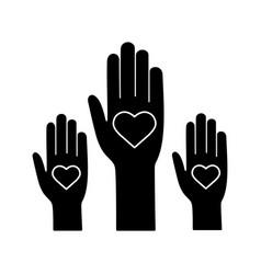 unity in diversity glyph icon vector image