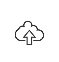upload cloud graphic icon design template vector image