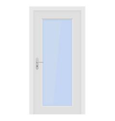 white door interior design with glass elements vector image