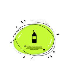 wine bottle icon merlot or cabernet sauvignon vector image