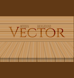 wood table top on oak background vector image