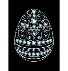 Diamond Easter Egg vector image vector image