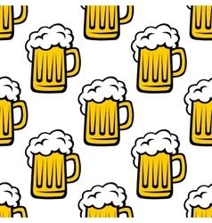 Fresh beer tankard seamless pattern vector image vector image