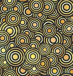 grunge gold circle seamless vector image