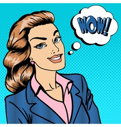 Happy Businesswoman Business Lady Surprised vector image