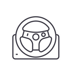 helm line icon sign on vector image