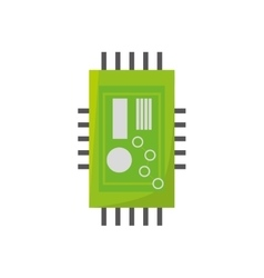 microchip hardware component computer vector image