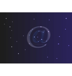 At sign from stars vector image
