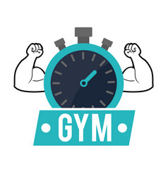 Gym chronometer strong poster vector