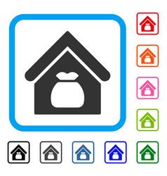 harvest warehouse framed icon vector image
