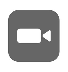 video-camera web icon flat design vector image vector image