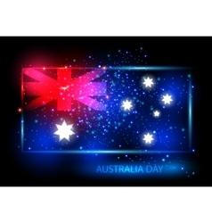 Australia day card design vector image