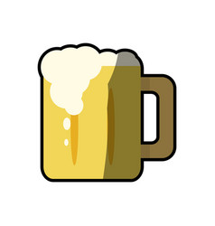 beer glass cup foam cold fresh vector image