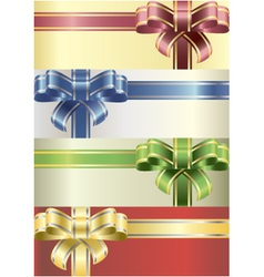coloured bows vector image vector image