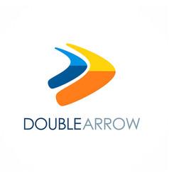 double arrow colored logo vector image