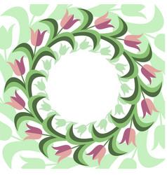 flat stile floral background vector image