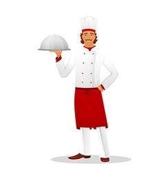Male chef in uniform vector image