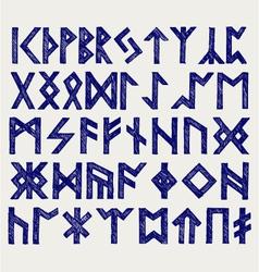 Runic script vector image vector image