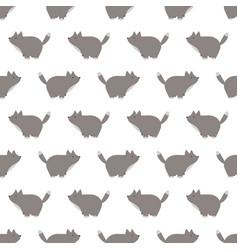 A seamless wolf pattern vector