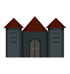 ancient fortress icon isolated vector image