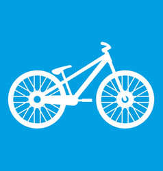 bike icon white vector image