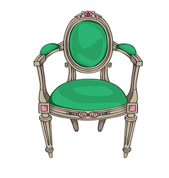 classic chair vector image vector image