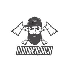 lumberjack label vector image