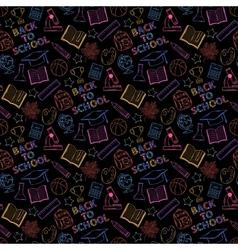 Neon seamless pattern shcool vector image