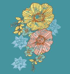 strange flower vector image