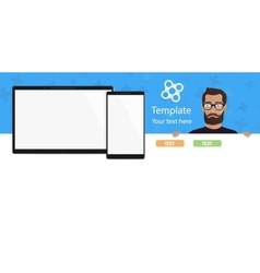 The template for a modern website with a beautiful vector image