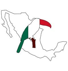 Toucan Mexico vector image
