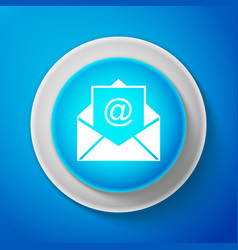 white mail and e-mail icon envelope symbol e-mail vector image
