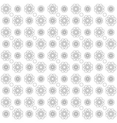 a pattern of outline flowers and circles on a vector image