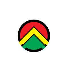 Abstarct arrow business logo vector