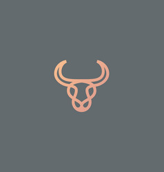 Abstract cow steak premium logo icon design modern vector