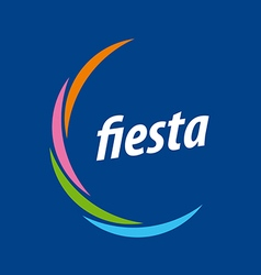 Abstract logo for the fiesta on a blue background vector