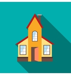 Abstract modern house icon flat style vector