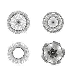 Abstract sacred geometrical figures spiritual vector