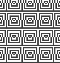 Alternating black and white cut squares vector image