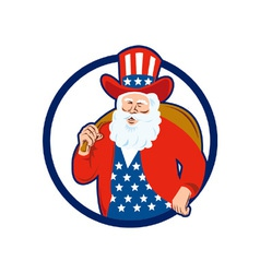 American Father Christmas Santa Claus vector image