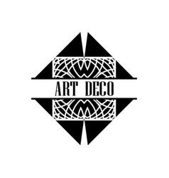 art deco logo vector image